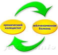 Порочный круг: хронический холецистит и жёлчекаменная болезнь почти всегда сопутствуют друг другу, оказывая взаимное негативное влияние